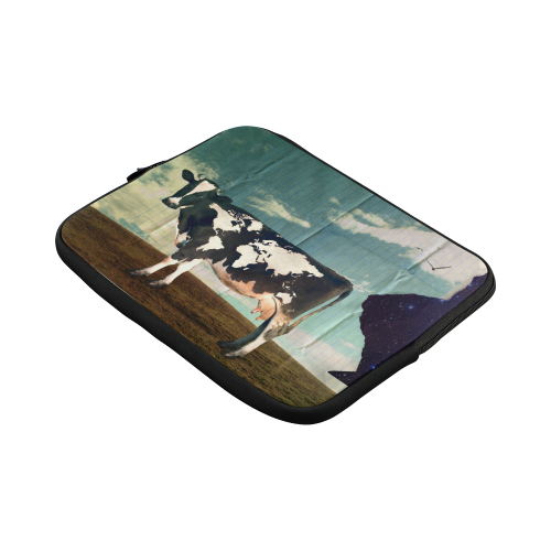 Surreal Dairy Cow With World Map Laptop Sleeve 11''
