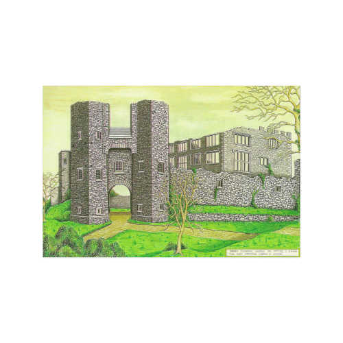 "Berry Pomeroy Castle by Kelvin Coles Poster 20""x30"""