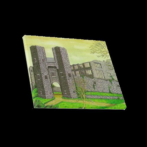 "Berry Pomeroy Castle by Kelvin Coles Canvas Print 20""x16"""