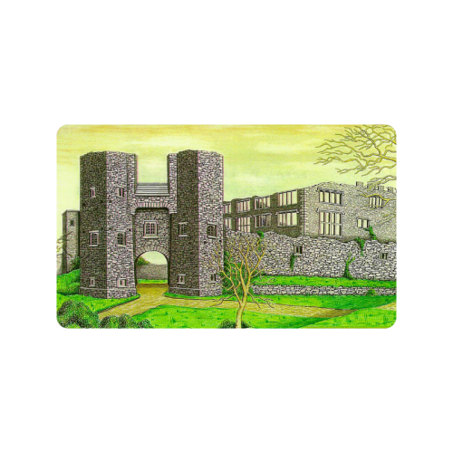 "Berry Pomeroy Castle by Kelvin Coles Doormat 30""x18"""