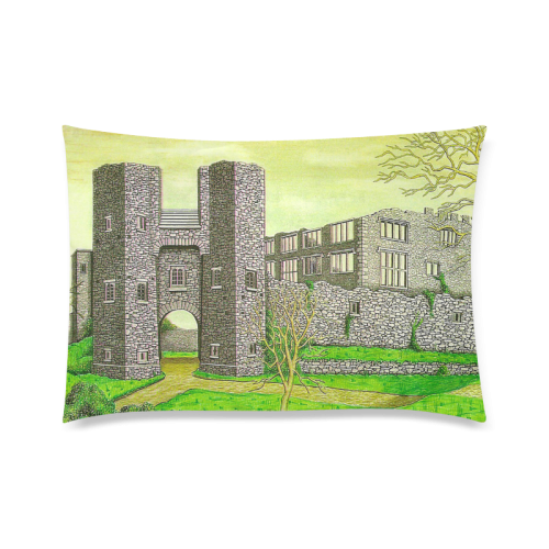 "Berry Pomeroy Castle by Kelvin Custom Zippered Pillow Cases 20""x30"" (one side)"