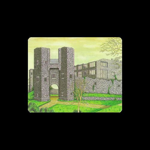 Berry Pomeroy Castle by Kelvin Coles Rectangle Mousepad