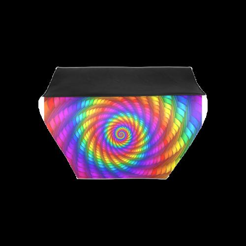Psychedelic Rainbow Spiral Clutch Bag (Model 1630)