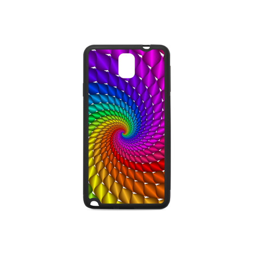 Psychedelic Rainbow Spiral Rubber Case for Samsung Galaxy Note 3
