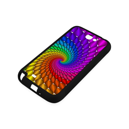 Psychedelic Rainbow Spiral Rubber Case for Samsung Galaxy Note 2