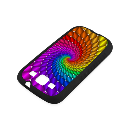 Psychedelic Rainbow Spiral Rubber Case for Samsung Galaxy S3