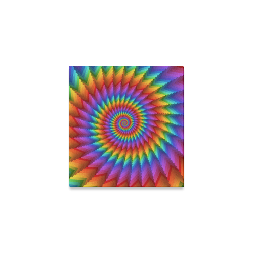 """Psychedelic Rainbow Spiral Canvas Print 6""""x4"""""""