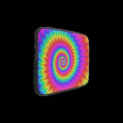 Psychedelic Rainbow Spiral Custom Laptop Sleeve 15''