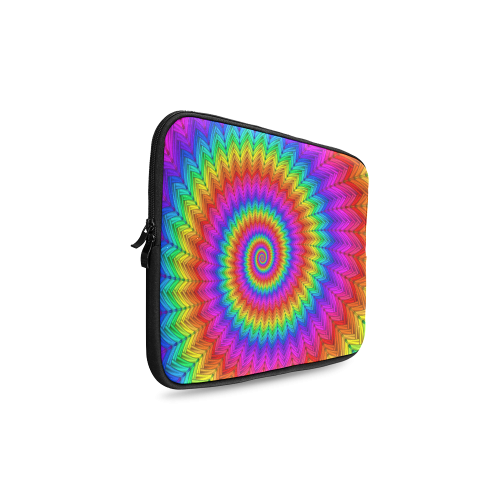 Psychedelic Rainbow Spiral Custom Laptop Sleeve 14''