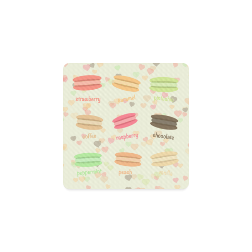 Love Macaroons Square Coaster