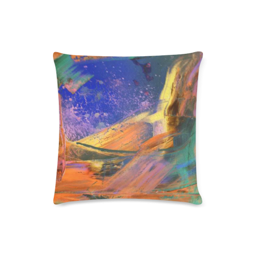 "orange Custom Zippered Pillow Case 16""x16""(Twin Sides)"