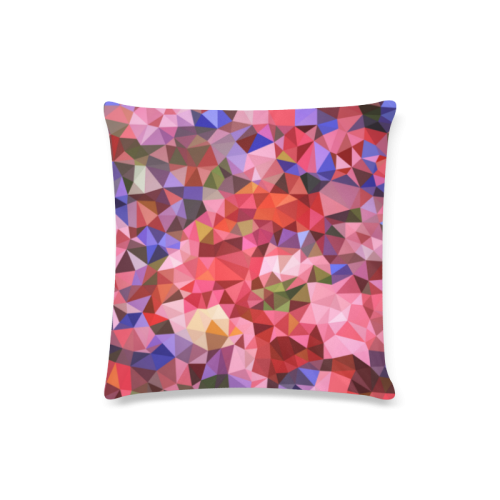 "Pink Custom Zippered Pillow Case 16""x16""(Twin Sides)"