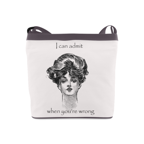 Funny Attitude Vintage Sass I Can Admit When You're Wrong Crossbody Bags (Model 1613)