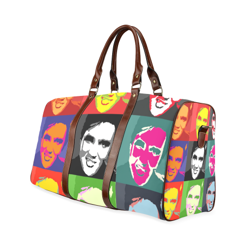 elvis in pop art Waterproof Travel Bag/Large (Model 1639)