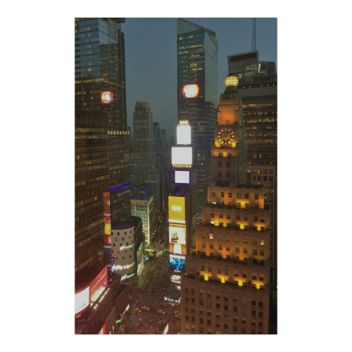 "34TH FLOOR NY CITY TIME SQUARE Poster 23""x36"""