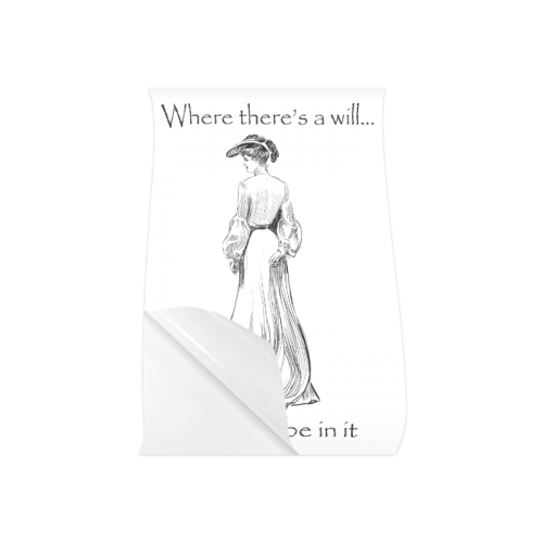 "Funny Attitude Vintage Sass Where There's A Will I Want To Be In It Poster 20""x30"""