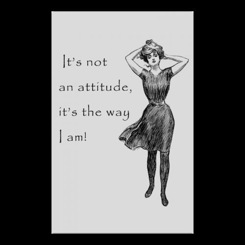 """Funny Attitude Vintage Sass Poster 23""""x36"""""""