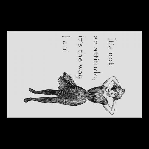 Funny Attitude Vintage Sass Poster 23*36