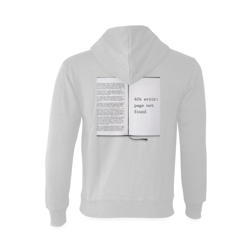 Funny Book Error 404 Page Not Found Geek Gildan Hoodie Sweatshirt (Model H03)