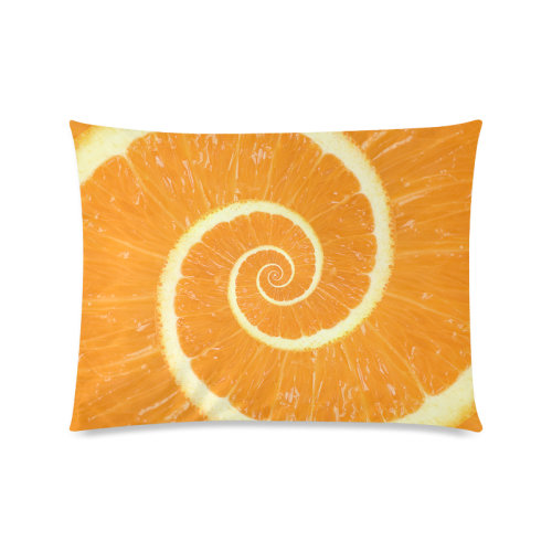 "Spiral Citrus Orange Droste Custom Picture Pillow Cases 20""x26"" (one side)"