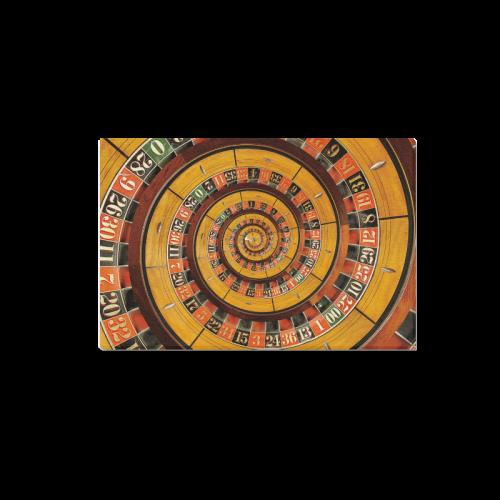 "Spiral Roulette Wheel Droste Canvas Print 18""x12"""