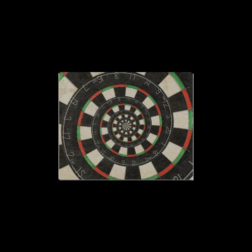 "Spiral Dart Board Droste Effect Canvas Print 8""x10"""