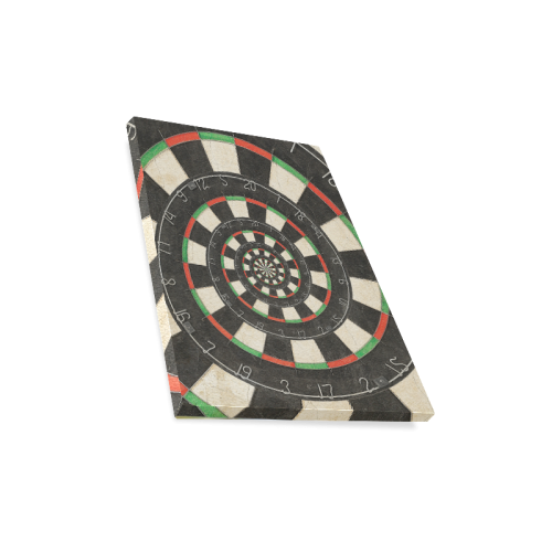 "Spiral Dart Board Droste Effect Canvas Print 11""x14"""