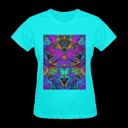 Floral Fractal Art G308 Sunny Women's T-shirt