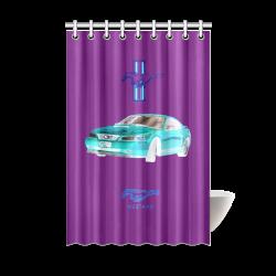 MUSTANG GT CHROME BLUE Shower Curtain