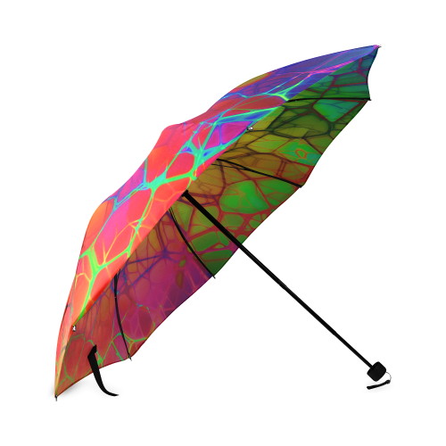 Stained Glass Abstract Fantasy Foldable Umbrella