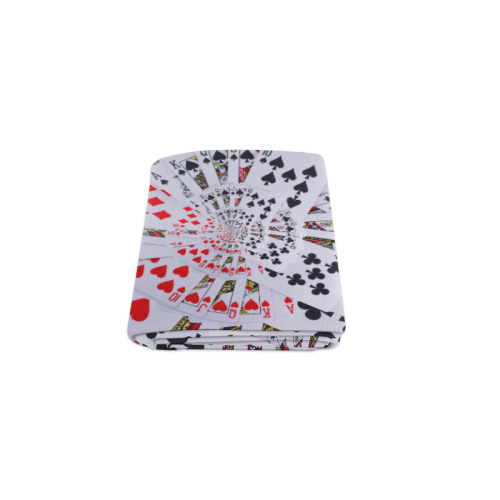 "Poker Royal Flush All Suits Droste Spiral Blanket 40""x50"""