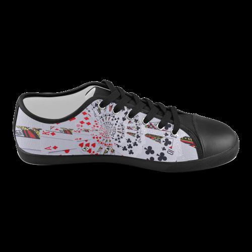 Poker Royal Flush All Suits Droste Spiral Men's Canvas Shoes (Model 016)