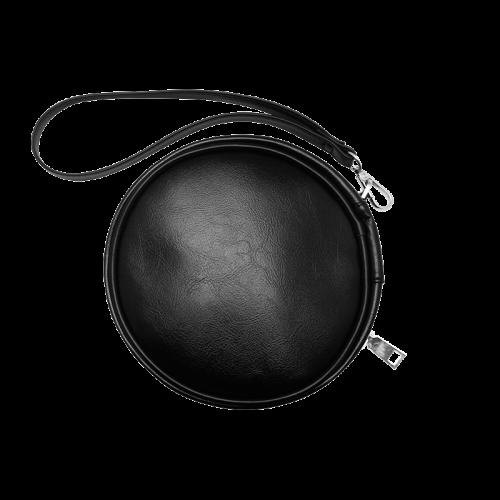 Poker Royal Flush All Suits Droste Spiral Round Makeup Bag (Model 1625)