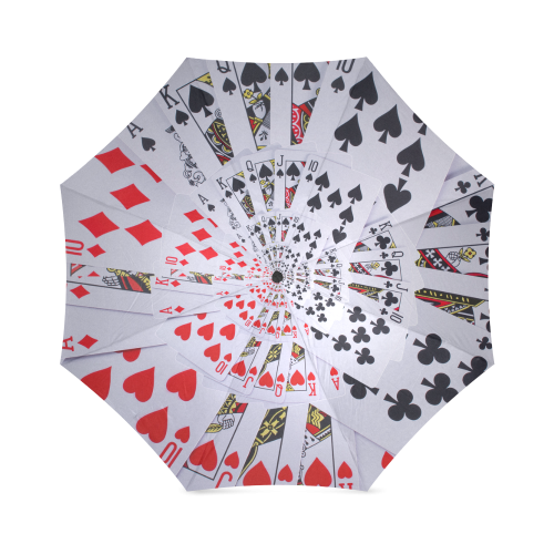 Poker Royal Flush All Suits Droste Spiral Foldable Umbrella