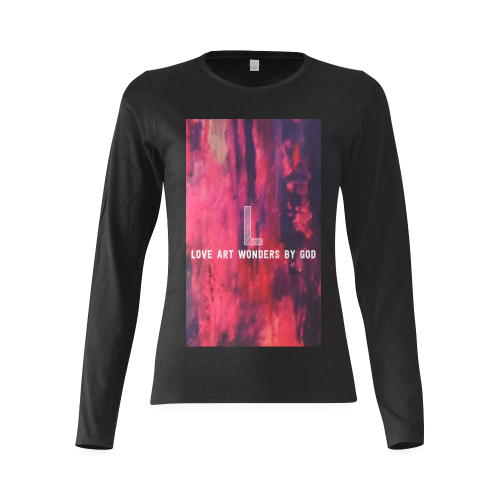 sunset pink Beauty Sunny Women's T-shirt (long-sleeve) (Model T07)