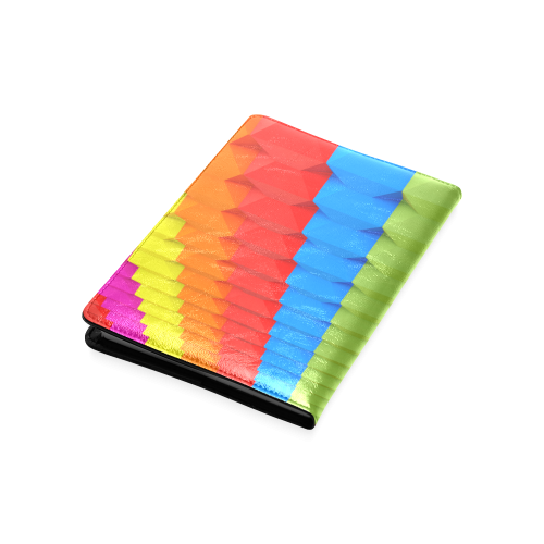 Colorful 3D Geometric Blocks Custom NoteBook A5