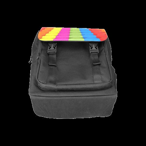 Colorful 3D Geometric Blocks Casual Shoulders Backpack (Model 1623)