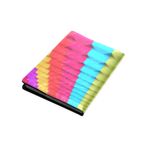 Colorful 3D Geometric Blocks Custom NoteBook B5