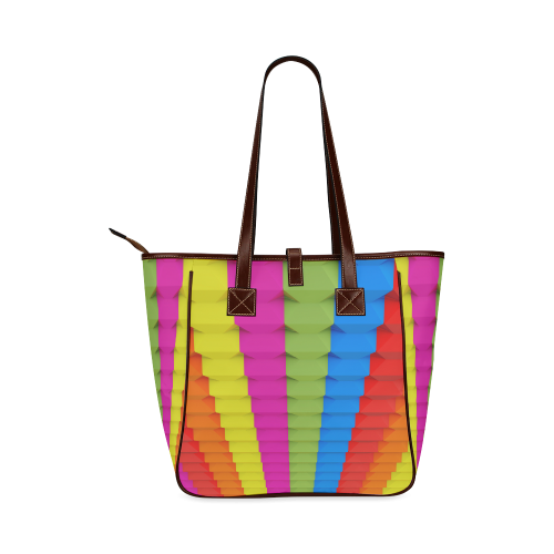 Colorful 3D Geometric Blocks Classic Tote Bag (Model 1644)