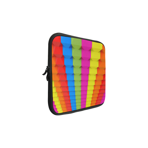 "colorful 3D Geometric Blocks Custom Laptop Sleeve 13"""
