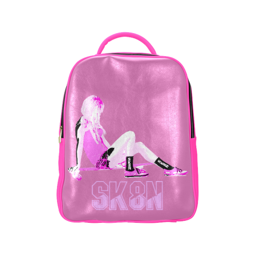 SK8N LONGBOARD PINK GIRL Popular Backpack (Model 1622)