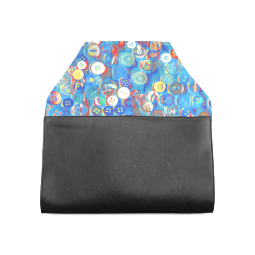 buttons in blue Clutch Bag (Model 1630)