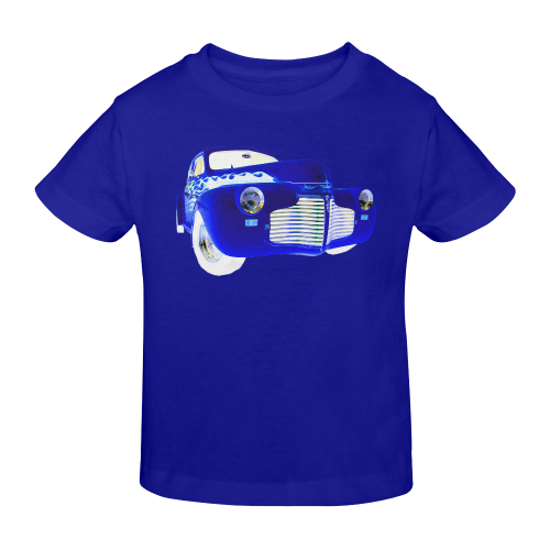1941 Master Deluxe BLUE WITH WHITE FLAME Sunny Youth T-shirt (Model T04)