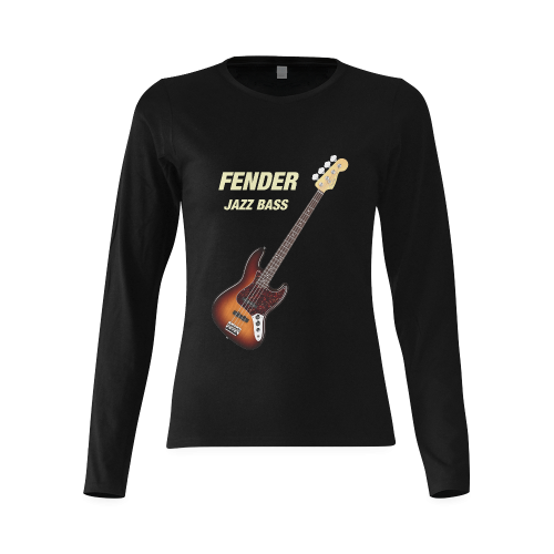 Fender Jazz Bass Sunny Women's T-shirt (long-sleeve) (Model T07)