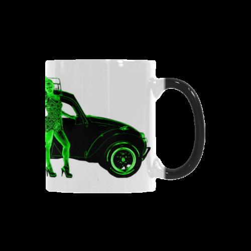 1970 Volkswagen Beetle Green BAJA Custom Morphing Mug