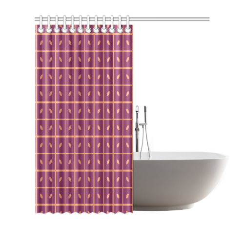 """Leaves Pattern Shower Curtain 66""""x72"""""""