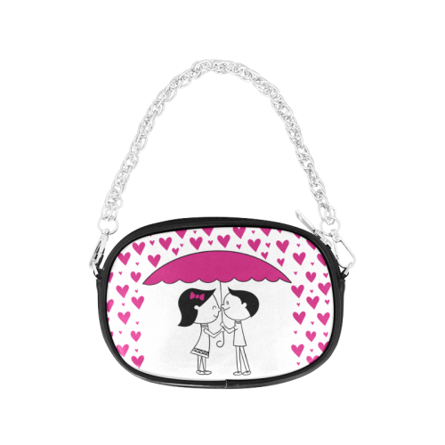 Romantic Couple With Hearts Chain Purse (Model 1626)