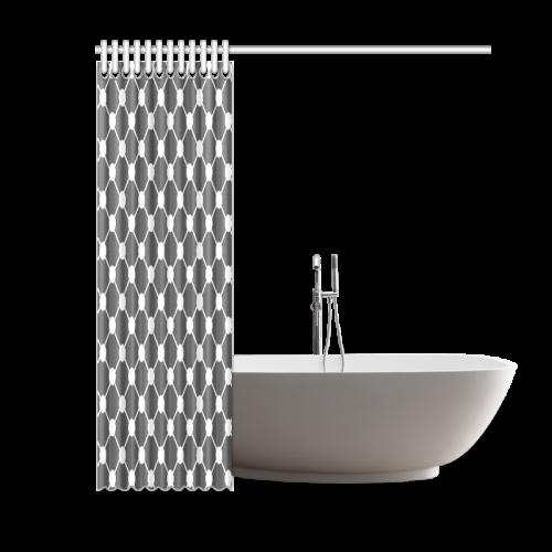 "Charcoal Trellis Dots Shower Curtain 60""x72"""