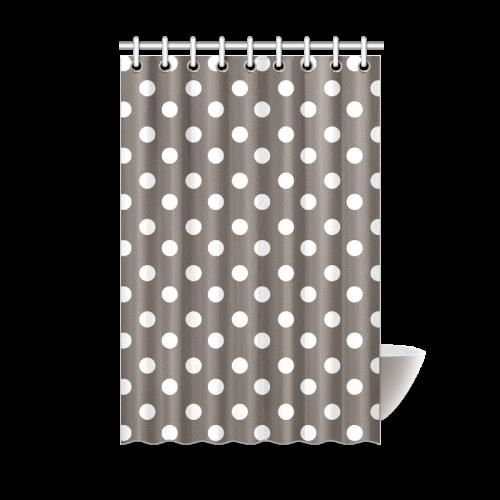 Beige Polka Dots Shower Curtain 48x72