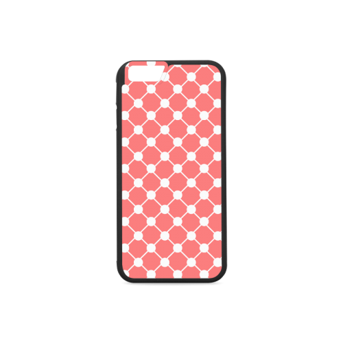 Coral Trellis Dots Rubber Case for iPhone 6/6s